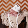 Panda Print 100% Organic Striped Reversible Flannel Pilot Hat