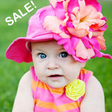 Passion Fruit Punch Baby Girl Sun Hat