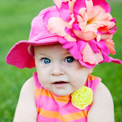 Passion Fruit Punch Baby Girl Sun Hat icon