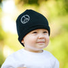 Black Peace Baby Beanie Hat