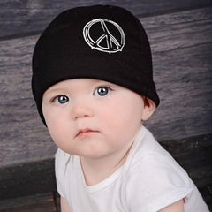 Black Peace Baby Beanie Hat icon