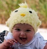 Peep Peep Yellow Chick Baby Hat Baby Girl and Boy Beanie  - Gender Neutral Hat
