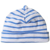 Blue and White Striped Infant and Newborn Beanie