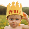 Yellow Personalized Felt Crown Baby and Toddler Boys (more colors available)