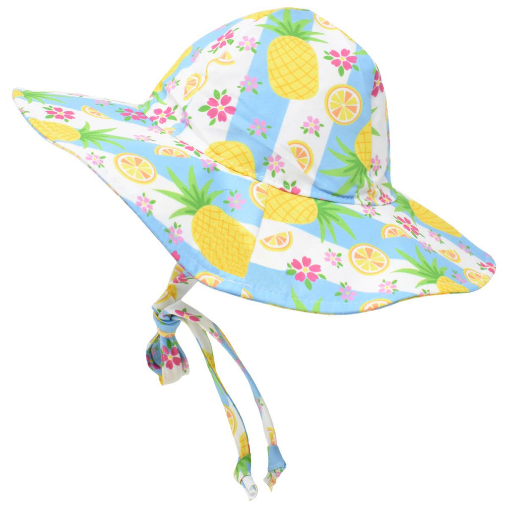 Tropical Pineapple Baby Girl Sun Hat- Baby Sun Hat - Toddler Sun Hat - Baby Girl Sun Hat