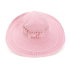 Soft Pink Crochet Girl's Sun Hat icon