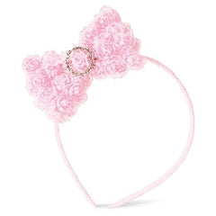 Baby Pink Chiffon Rosette Bow Toddler and Kids Headband icon