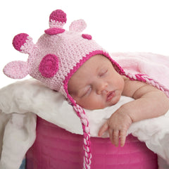 Spotted Pink Giraffe Baby Girl Hat icon