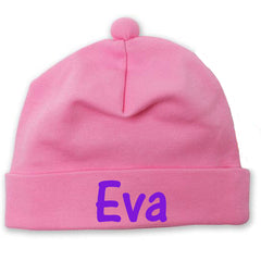 Solid Pink Infant and Newborn Girls Beanie - Personalization Option icon