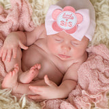 PINK Little Sis Flower Patch Big Bow Newborn Girl Hospital Hat