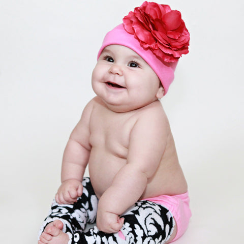 Pink Love Bloom Baby Girl Hat
