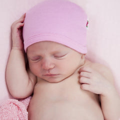 Pink 100% Certified Organic Cotton Baby Beanie icon