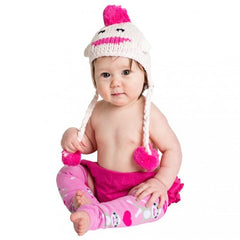 Soft Pink Sock Monkey Baby Girl and Toddler Girl Hat icon