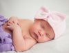 So Sweet Pink Ribbon Striped Nursery Newborn Girl Hospital Hat - Striped