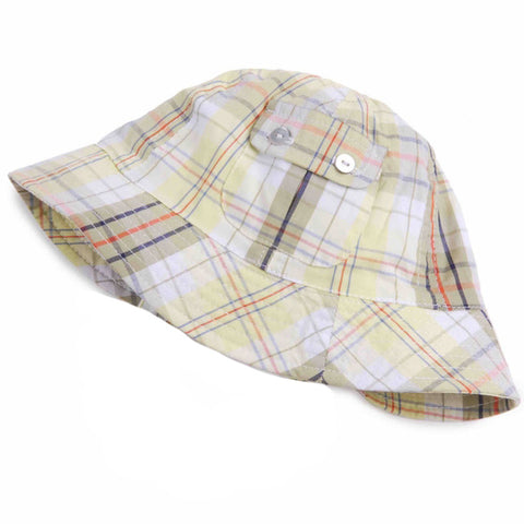 Little Man Madras Plaid Sun Hat for Baby and Toddler Boys