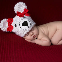 Pretty Polar Bear Newborn Girl Hat - Newborn Girls icon