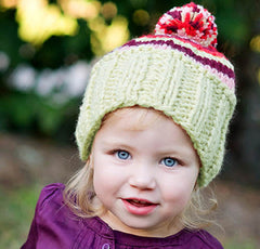Pom's Away Baby and Toddler Girl Beanie Hat icon