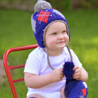 Preppy Navy Blue Argyle Hat for Baby, Toddler and Big Kid Boys