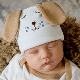 Puppy Dog Face with Ears Newborn and Baby Hospital Hat
