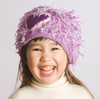 Zooni Purple Heart Girly Baby Toddler and Kids Winter Hat - FULLY LINED IN FLEECE
