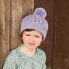 Lavender Fields Pom Pom Baby and Toddler Girl Hat icon