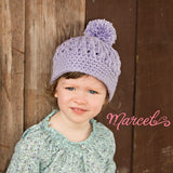 Lavender Fields Pom Pom Baby and Toddler Girl Hat