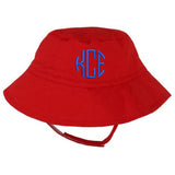 Red Baby Bucket Sun Hat with Option for Personalization