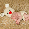 Red Nosed Reindeer Hat and Diaper Cover Newborn Set - Christmas Set