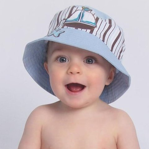 ... Baby Blue Sail Boat Baby Sun Hat ... f291f795d8c