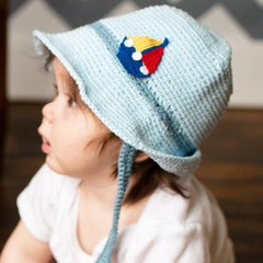 Blue Sailing Knit Sun Hat - Baby and Toddler Boys icon
