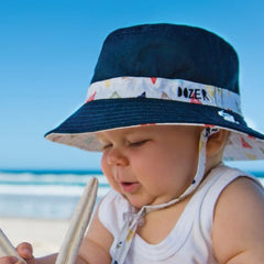 Triangle Nautical Print Baby and Toddler Boys Sun Hat icon