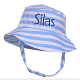Boys Sailor Stripe Sun Hat Baby Boy Sun Hat - Personalization Optional