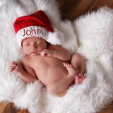Personalized for Boy or Girl Classic Santa Stocking Baby Hat for Boys or Girls - Christmas Hat