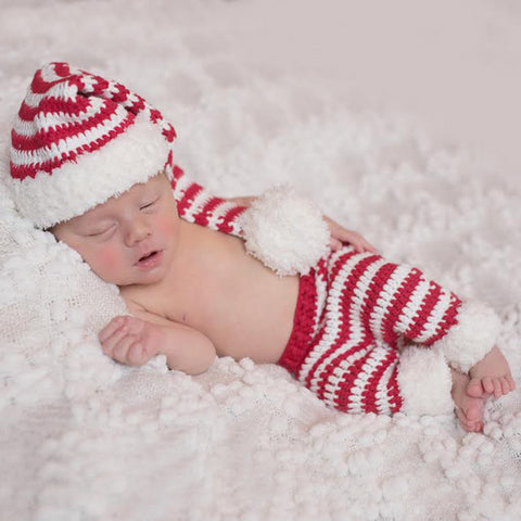 Fuzzy Santa Hat and Pant Set for Baby Boys and Baby Girls ...