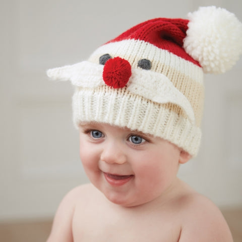 Mr. Mustache Santa Knit Hat - Baby Christmas Hat