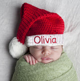 Merry Christmas Personalized for Boy or Girl Classic Santa Stocking Baby Hat for Boys or Girls - Christmas Hat
