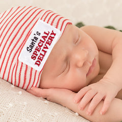 Santa's Special Delivery Newborn Hospital Hat for Christmas Newborns icon