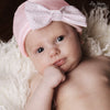 Pink Sweetest Seersucker Bow Baby Girl Newborn Hospital Hat