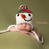Holiday Season Snowman Baby Hat