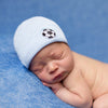 Blue and White Striped Soccer Newborn Boy Hospital Hat