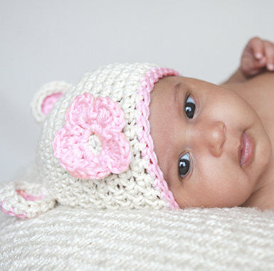 Sugar Bear Baby Girl Beanie Hat