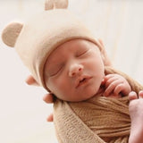 Tan Baby Bear Newborn Boy or Girl Hospital Hat - Gender Neutral
