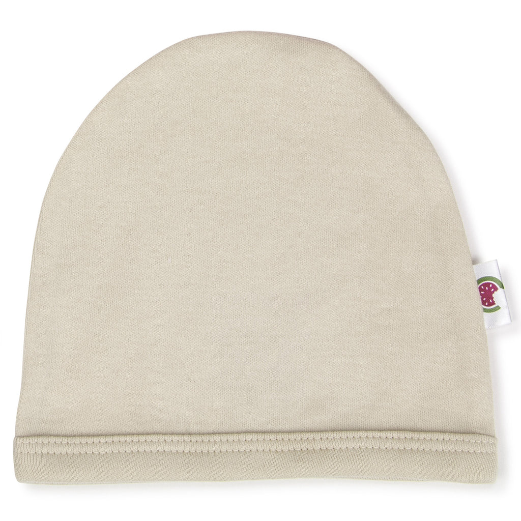100% Certified Organic Cotton Baby Beanie - Ivory/Cream Color
