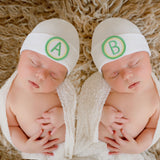 Twins A and B Hat - Newborn Hospital A and B Hat for Twins - Gender Neutral Hat for newborns