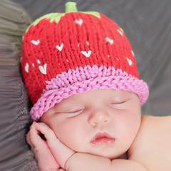 Strawberry Sweetie Baby Girl and Toddler Beanie