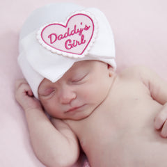 Daddy's Little Girl Newborn Girl Hospital Hat- White or Pink Hat icon