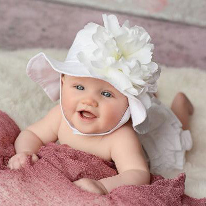 White Sands Peony Flower Sun Hat