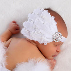 White Feather Angel Headband for Newborn and Baby Girls icon