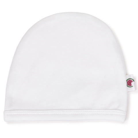 Pure White 100% Certified Organic Cotton Baby Beanie - Option for  personalisation d3386e8a81c