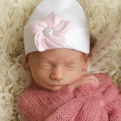 Sea Flower White Sparkles Newborn Girl Hospital Hat icon